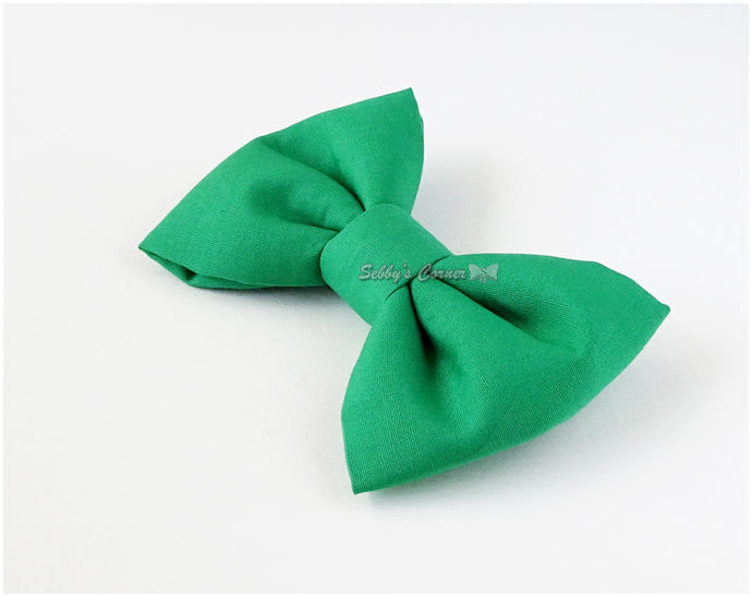 Solid Green Bow Tie for Cats, Removable, Small Dog Accessories