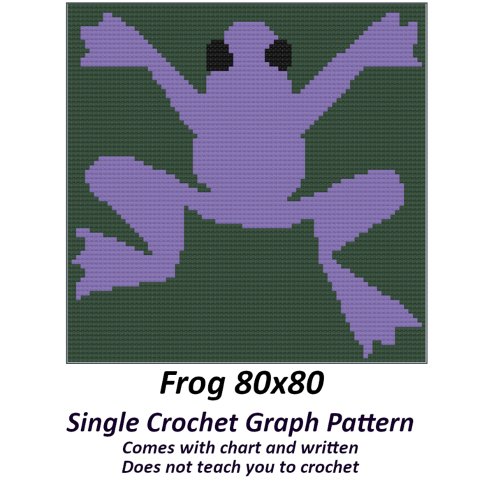 Frog Pillow Crochet Graph Pattern
