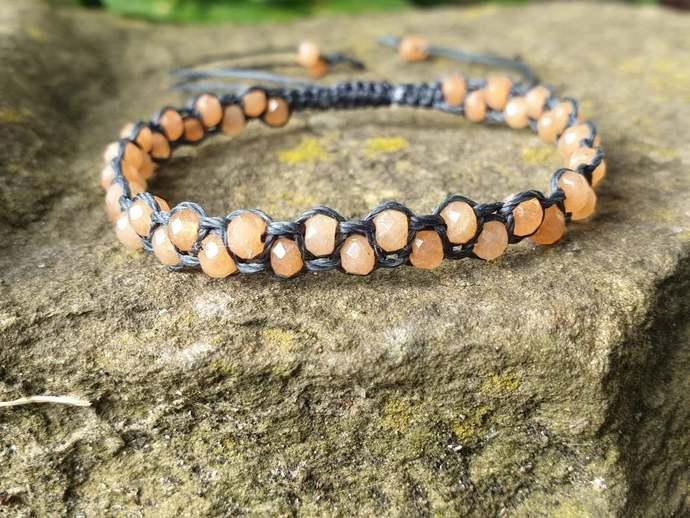 orange Jade bracelet | serenity ~ attracts good luck + friendship ~ releasing