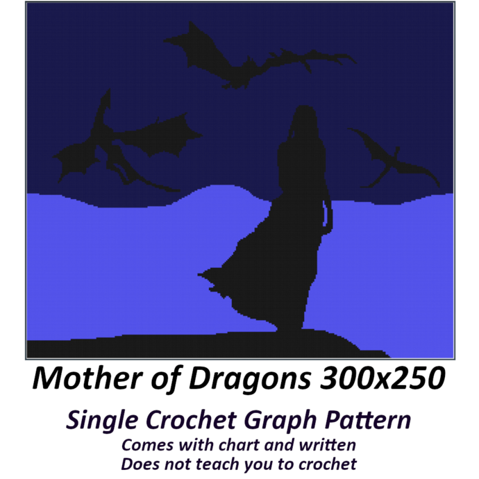 Mother of Dragons Blanket Crochet Graph Pattern