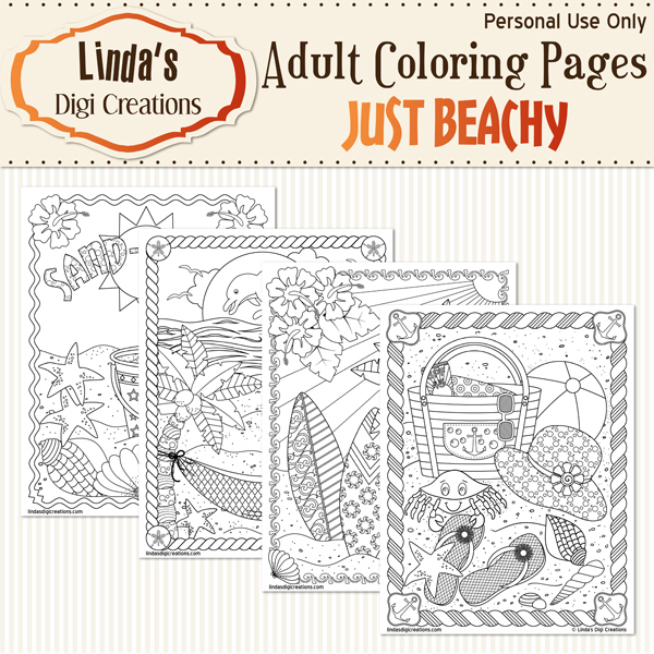 Just Beachy_Printable Coloring Pages