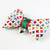 I Heart Fashion Bow Tie for Cats, Multicolor Print, Pet Accessories, Slide on,