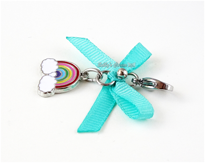 Kawaii Rainbow Pet Collar Charm, Charms for Cats, Zipper Pulls, Pet Jewelry
