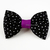 Star Print Bow Tie for Cats, Black, Purple, Gothic Pet Accessories, Halloween