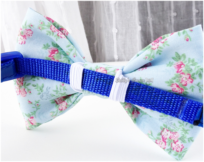 Cottage Chic Bow Tie for Cats, Bow Ties for Dogs, Baby Blue, Pink, Spring