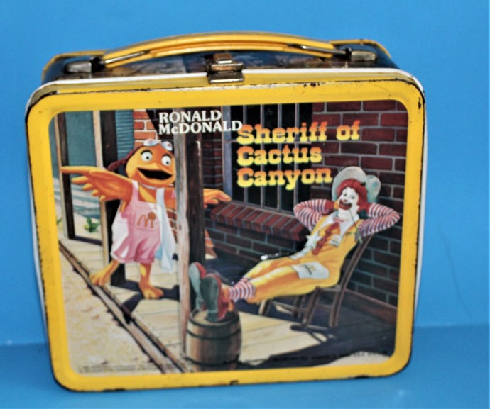 1982 Ronald McDonald Sheriff OF Cactus Canyon METAL LUNCHBOX