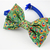 Peacock Feather Print Bow Tie for Pets, Cat Fashion, Bow Ties for Dogs, Pet