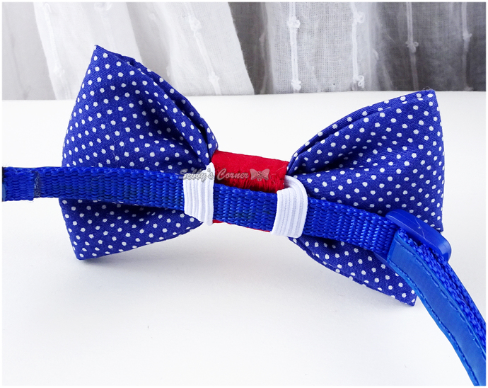 Superhero Cat Bow Tie, Navy Blue, Red, Pet Accessories, Pet Photo Props
