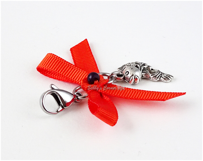 Koi Fish Charm with Clip, Pet Collar Charms, Charms for Cats