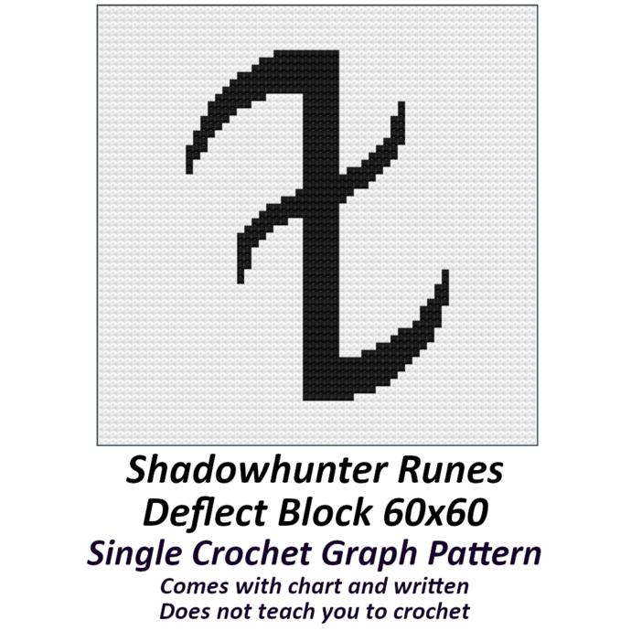 Shadow Hunter Runes Pillow Crochet Graph Pattern