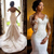 Vintage African Mermaid Wedding Dresses 2019 Vestido De Noiva Sheer Neck Long