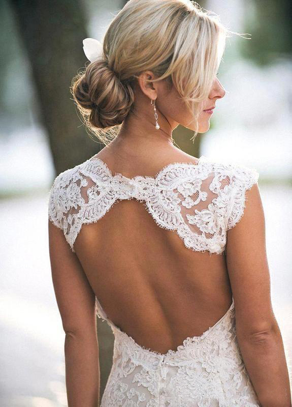 2019 Lace Sexy Country Wedding Dresses Modest Spaghetti Backless Elegant Beach