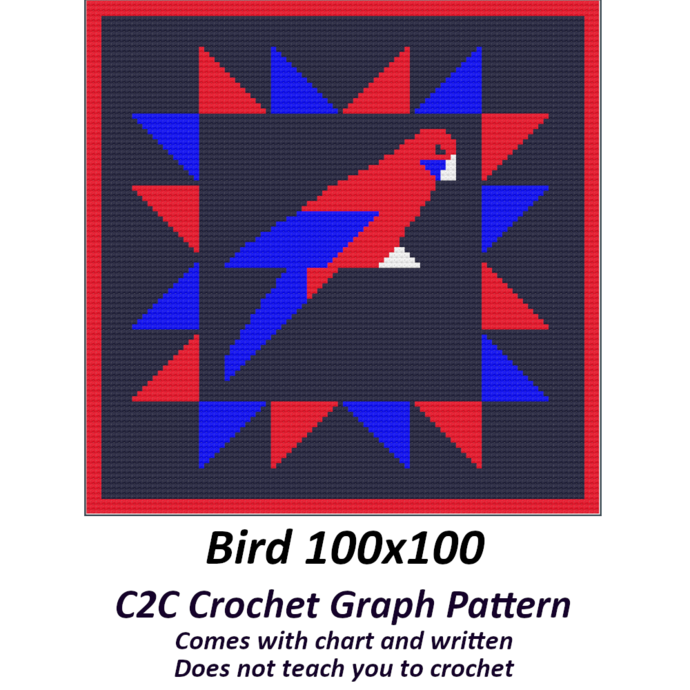 Bird Blanket Crochet Graph Pattern