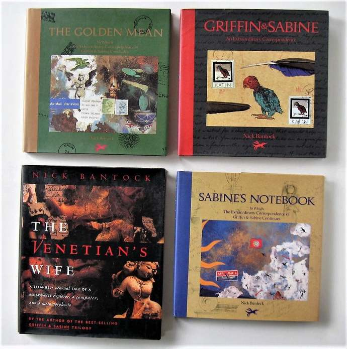 The Griffin and Sabine Trilogy, 4 Vintage Books, Nick Bantock, Venitian's Wife,
