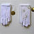 2  vintage pair of embroidered Girl's White Gloves, One size fits all, Original