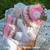Crochet Blossom Hat Girls Ear Flaps Hat Baby Girl Children Winter Handmade Pink