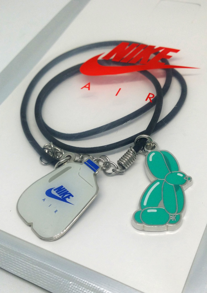 Nike Air Max Day Necklace / Bracelet (01) - Pendants on Black Leather Cord