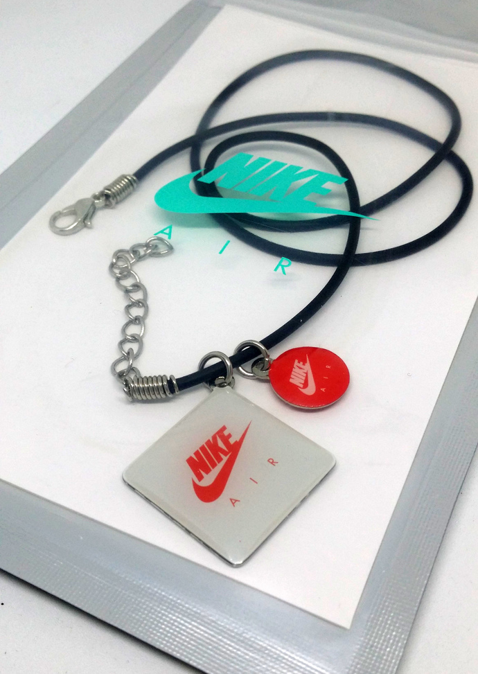 Nike Air Max Day Necklace / Bracelet (02) - Pendants on Black Leather Cord