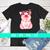 Pink Bandana Pig PNG, Sublimation Designs Download, Clipart, Printable File,