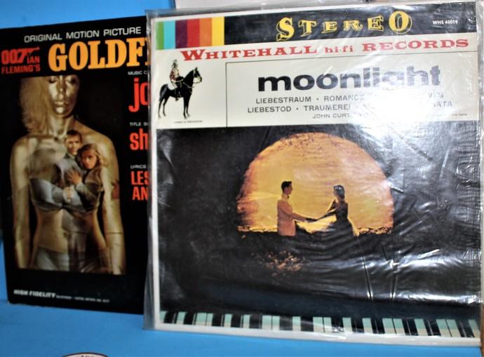 Vintage Albums- 007 GOLDFINGER & Moonlight Record Albums