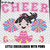 Cheer Little Varsity Cheerleader With Poms crochet graphgan blanket pattern;