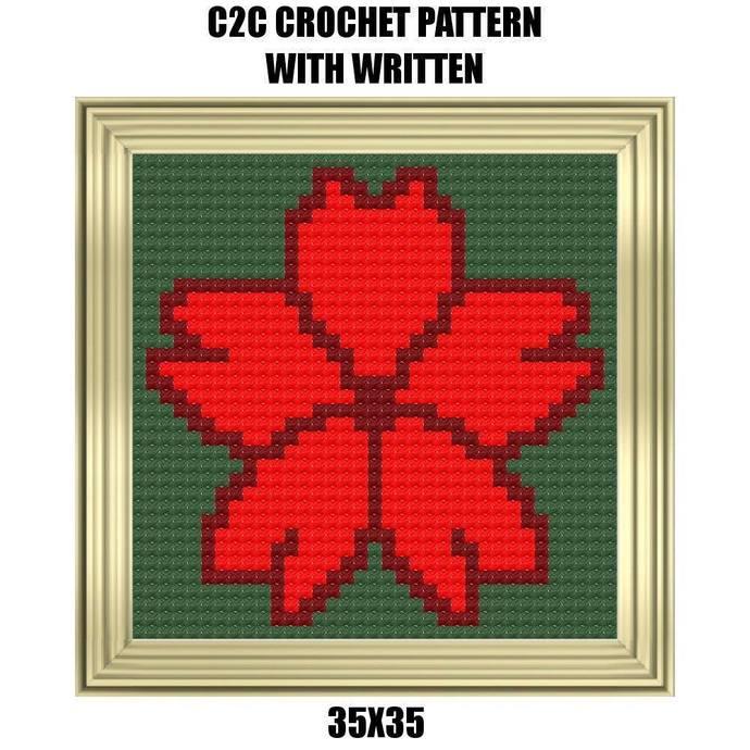 Cherry Blossom Blanket Crochet Graph Pattern