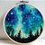 Landscape Modern Cross Stitch Pattern, starry night, galaxy, nature easy counted