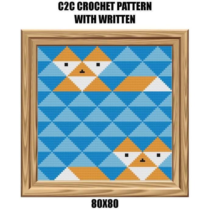 Foxy Blanket Crochet Graph Pattern