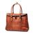 JM029 Women's Full Grain Leather Messenger Shoulder Laptop Handbag Large Tote