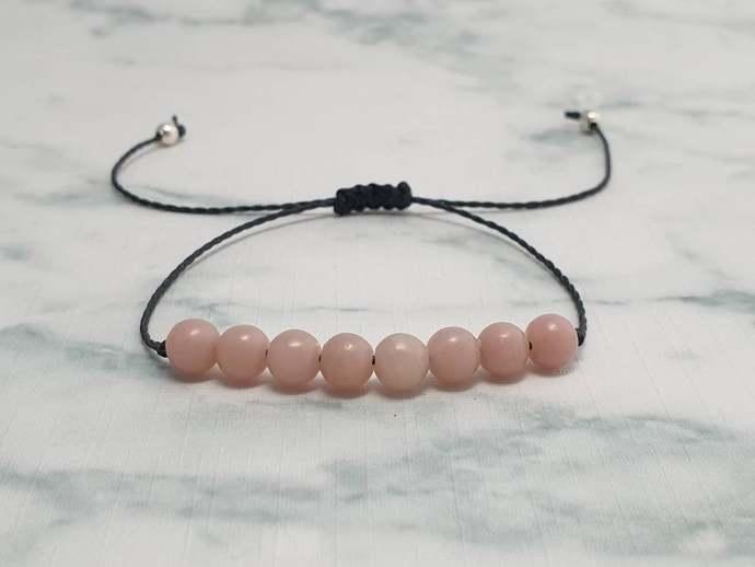 pink Opal bracelet   October birthstone ~ stone of love and gentleness ~ healing
