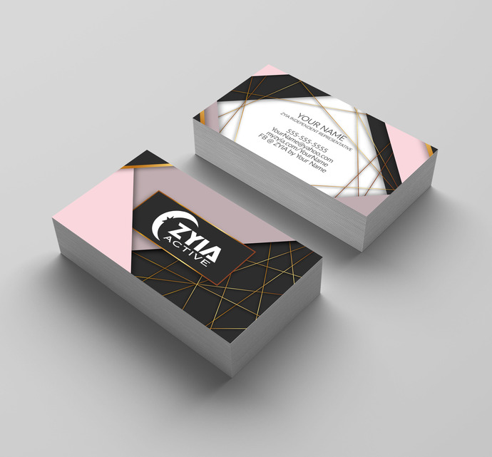 Zyia Active wear Business Card Independent Rep- D3