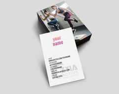 a90acf22fae5e7 okprintables · Zyia Active wear Business Card Independent Rep- D6- Leggins-  Vertical card