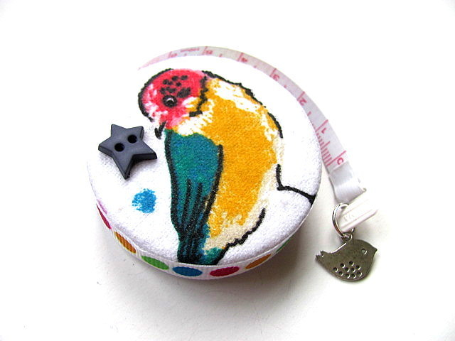 Tape Measure Colorful Birds Small Retractable Measuring Tape