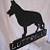 Personalize Metal Silhouette Dog