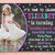 Stars Chalkboard Invitation With Personalized Picture Hot Pink, Teal and Purple