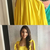 Elegant simple yellow long prom dress, beautiful yellow evening dress