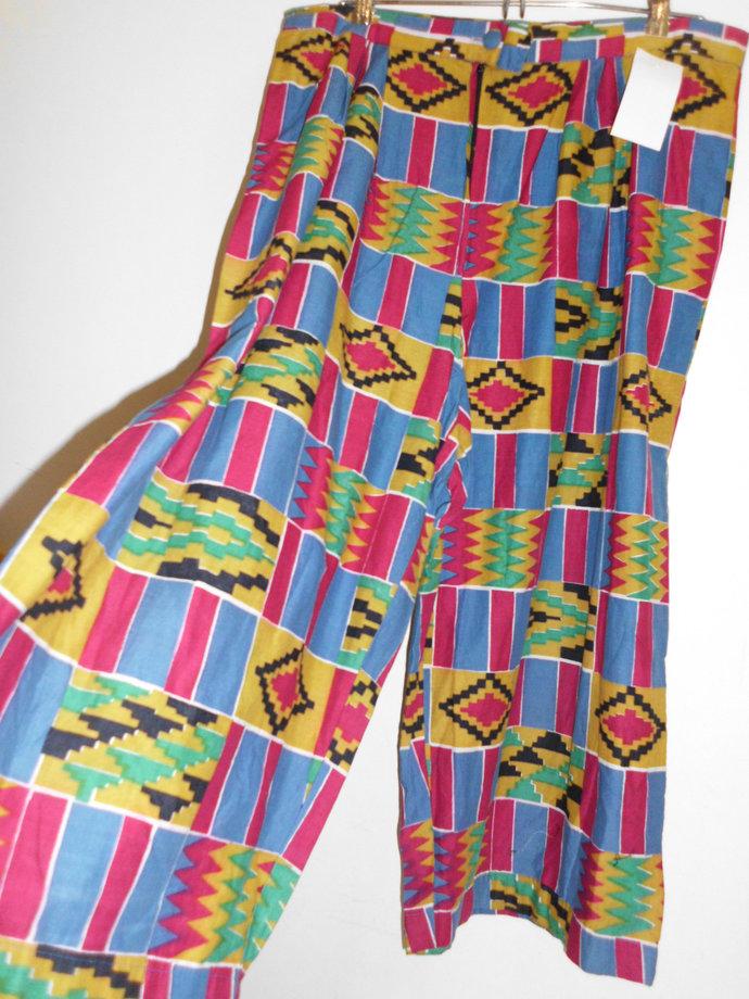 Geometric Worldwide free shipping women dashiki designer pants