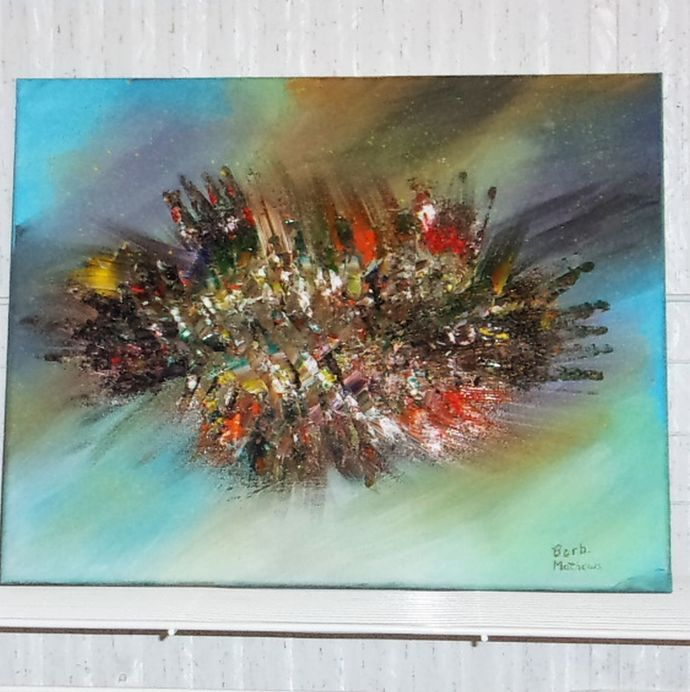 """Acrylic Abstract Painting,  16""""x20"""" Painting, Abstract Painting, I call this one"""