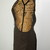 Cross Back stenciled apron, linen blend, Small/Medium fully lined