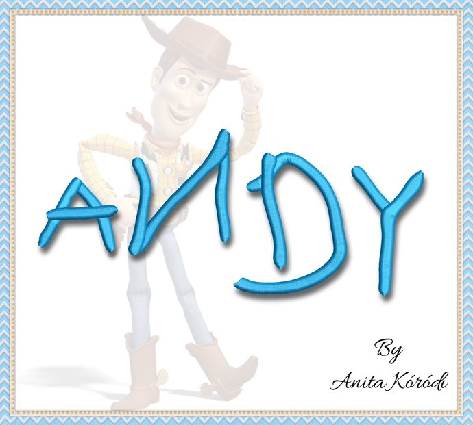 Toy Story 4 Andy Embroidery Machine Design Pes File Disney Pattern Digital