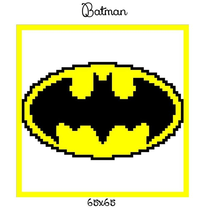 Batman Pillow Crochet Graph Pattern