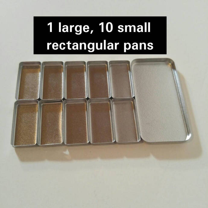Refill paint pans sets for use with Travel Palette Watercolor. Clear coated