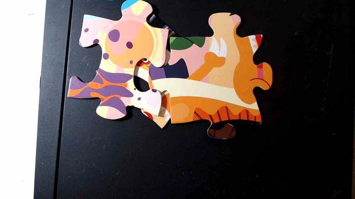 Extra Large ChipBoard Puzzle pieces