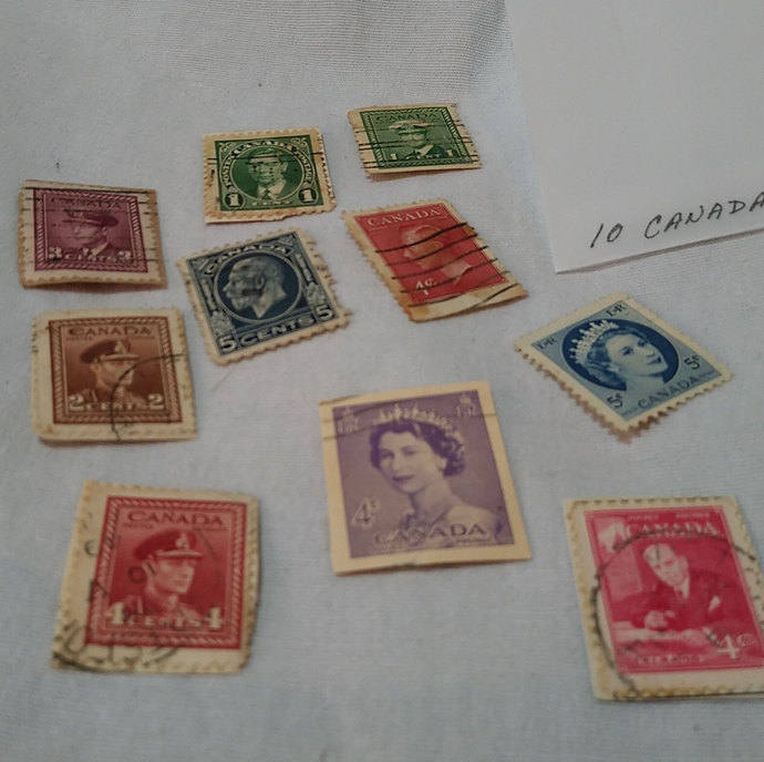 Authentic Post marked Vintage stamps