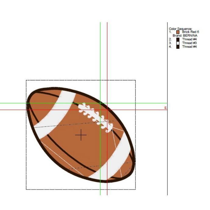 Football Embroidery Machine Design Pes Pattern NFL Sport digital download
