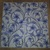 N224 Paper Napkins (Pack of 2) Blue and White Flowers and Swirls Lilies.