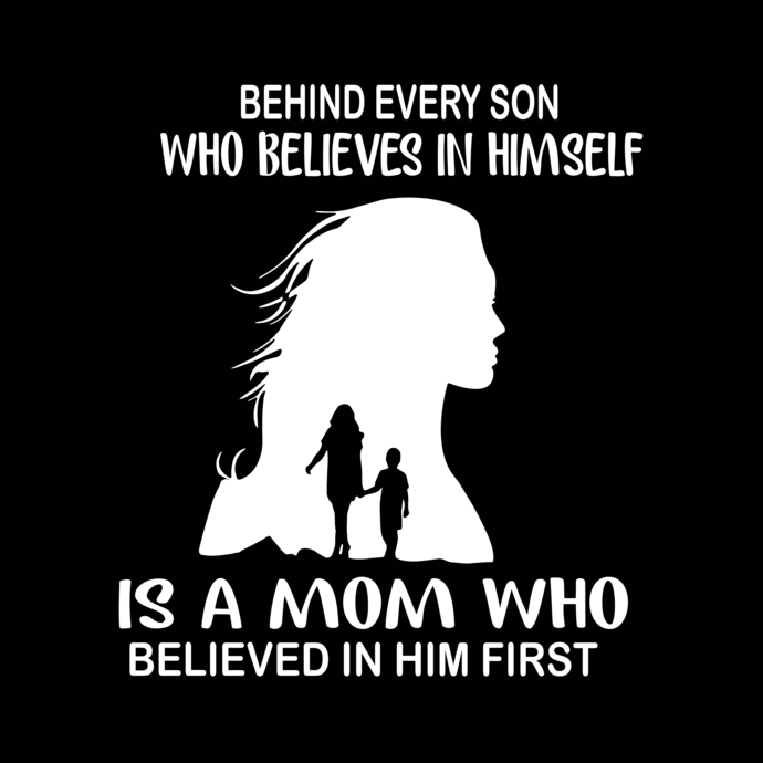 Behind Every son Who Believes In Himself, Baseball Mom svg, png, dxf,eps file