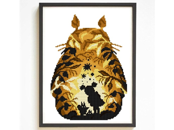 Cute Character silhouette modern cross stitch pattern, movie inspired,