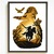 Game inspired silhouette modern cross stitch pattern, hero, nature, forest, easy