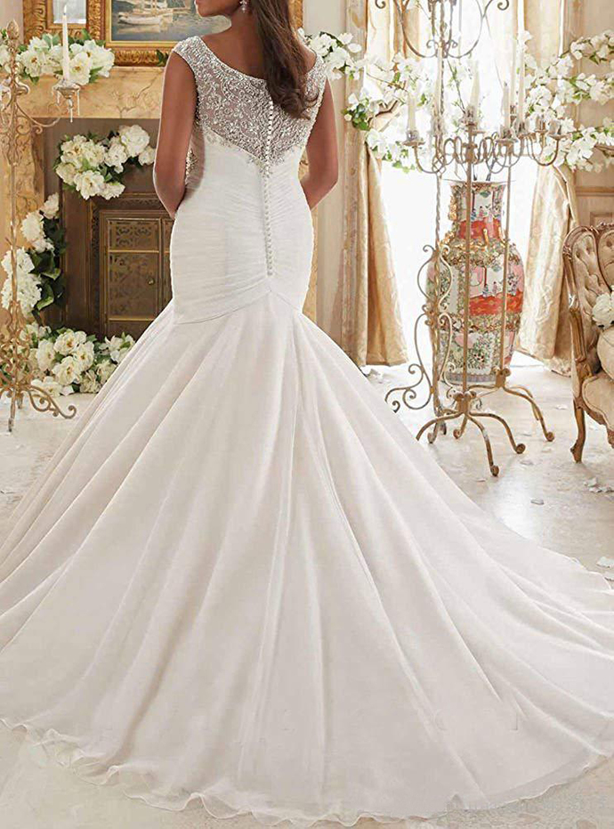 luxury Bridal Gown Crystal Beaded wedding dress 2019 Embroidery and Soft Net